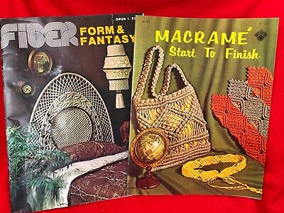 Macrame Pattern Book Lot Plant Hanger & Wall Hanging Bags Jewelry Lamp Headboard