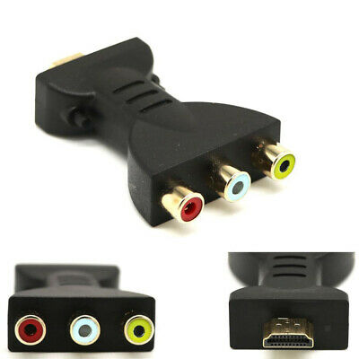 HDMI Male to 3 RCA Video Audio AV Adapter Component Converter for HDTV DVD