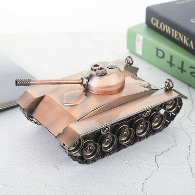 Old Style Metal Diecast Tank Model Military Vehicle Craft Collectible Gift