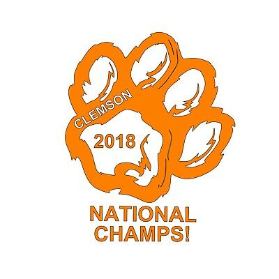 Clemson Tigers 2018 National Champions Champ Inspired Decal