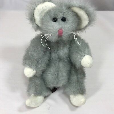 1993 TY Plush SQUEAKY 6017 Gray Poseable Mouse with tags Rodent Whiskers Rat d568a3020cc1