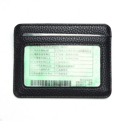 Mens PU Leather Wallet Front Pocket RFID Blocking Slim Mini Card Holder Bag New