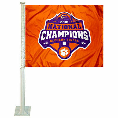 Clemson Tigers 2018 Football National Champions Car Auto Window Flag