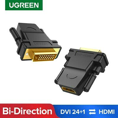 Ugreen High Speed HDMI Female to DVI 24+1 DVI-D Male Adapter 1080P for HDTV, DVD