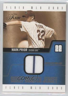 2003 Flair Sweet Swatch Jerseys/250 #SS-MP Mark Prior Chicago Cubs Baseball Card