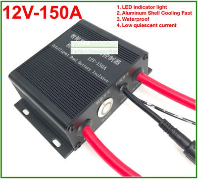 Universal Car Dual Battery Isolator 12V 150A Waterproof With LED Indicator Light