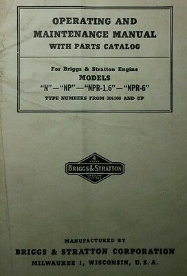 Briggs & Stratton N Engine Owners, Maintenance, Parts, Service Repair Manual 44p