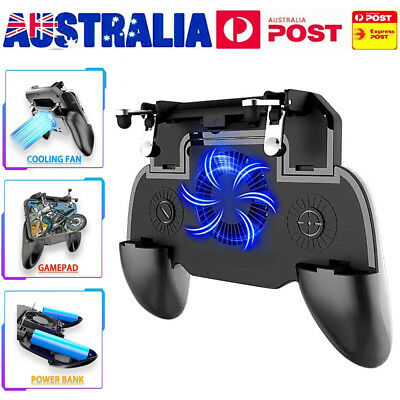 For PUBG Controller Mobile Game Shooter Trigger Fire V6 L1R1 Button + Game Pad