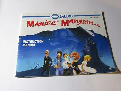 NES Nintendo Instruction Manual Booklet - MANIAC MANSION
