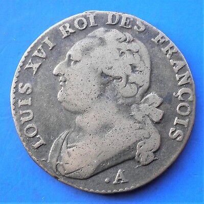 Louis XVI deniers 1791  point A couvent Barnabites 12,7 gr 29 mm