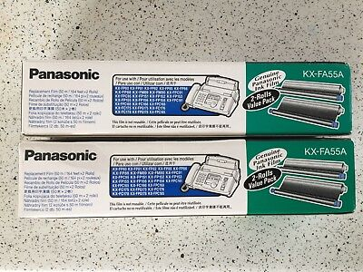 Panasonic KX-FA55A Genuine Fax Machine Replacement Ink Film 2 X 2pack
