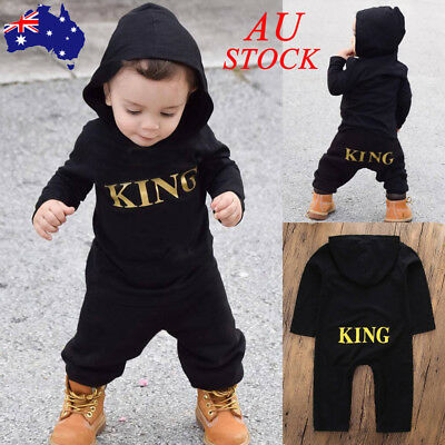 Baby Boys Bodysuit Tracksuit Toddler Newborn Kids Infant Clothes Outfits Romper