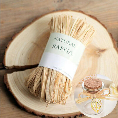 10 x Natural Raffia Dry Straw Paper Wrap Rope For Wedding Packaging Box