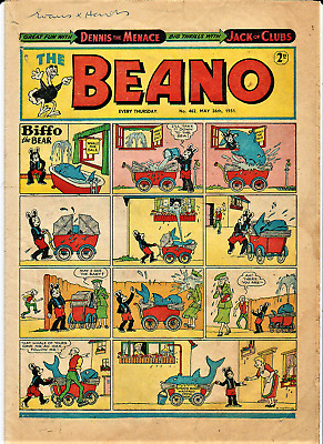 BEANO # 462 May 26th 1951 the comic magazine Early Dennis the Menace