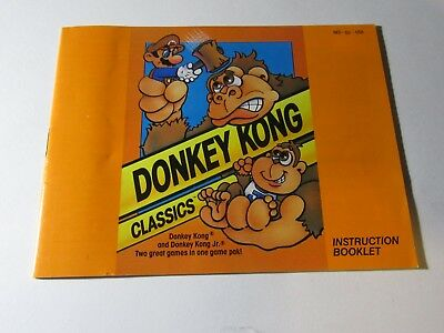 NES Nintendo Instruction Manual Booklet - DONKEY KONG CLASSICS