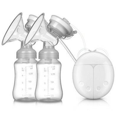 UK Electric Hand Free Double Breast Pump Automatic Intelligent Baby Feeder USB