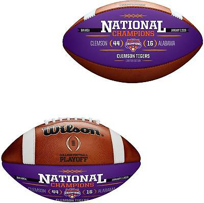 Wilson Clemson Tigers CFP 2018 National Champions Leather Commemorative Football