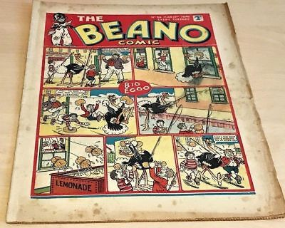 BEANO # 86 March 16th 1940 comic war time issue Rare