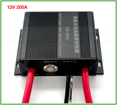 Universal Car Dual Battery Isolator 12V 200A Waterproof With LED Indicator Light