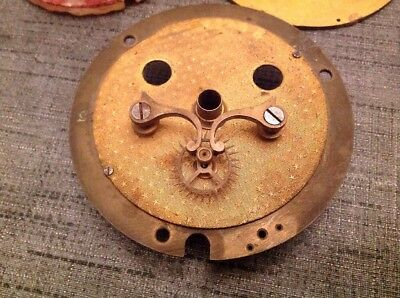 Antirque Clock Dial Face Centers Two From Clockmakers Spare Parts Collection