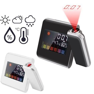 Weather Forecast Lamp Projection Thermometer Hygrometer Digital Alarm Clock