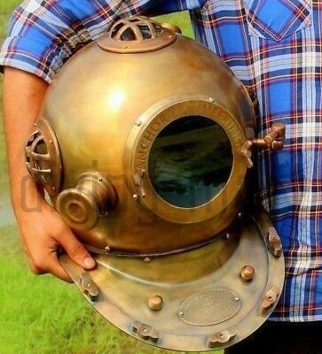 Anchor Engineering 1921 Antique Mark V 18 Inch Deep Sea Diving Divers Helmet