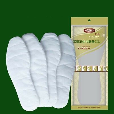 Disposable Soft Insole Absorbing Sweat Shoe-pad White Military Training Insole
