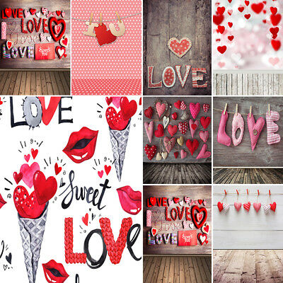 Romantic Valentine's Day Vinyl Photography Backdrop Baby Studio Photo Background