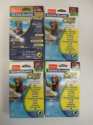 4 HARTZ ULTRA GUARD PRO FOR DOGS AND PUPPIES 61-150lbs - RC 8624