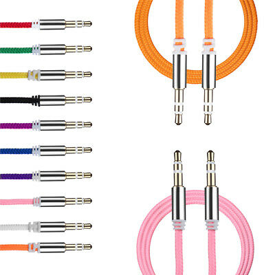 Male to Male Stereo Audio Cable Car Aux Auxiliary Cord For Cell Phones iPod MP3