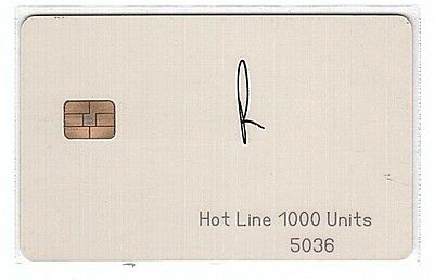 Pakistan - Chipcard Hot Line 1000 Units Square EURO Chip - Used/Usagée