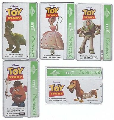 UK - 5 Phonecards - Disney Toy Story - Usagées/Used