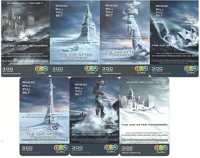 """Thaïlande - GSM Prepaid Cards - 7 Cards Movie """"The Day After Tomorrow"""""""