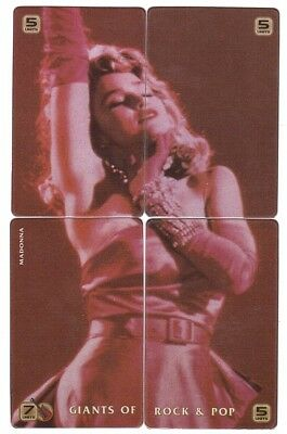 USA - Satelite Communication Collector Cards - Puzzle Madonna 4 Cards