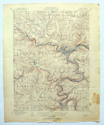 Franklin Pennsylvania Vintage USGS Topo Map 1909 Allegheny River Topographical