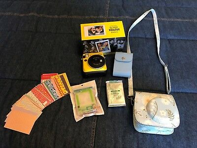 Fujifilm instax mini 70 Instant Film Camera Canary Yellow Case Film Accessories