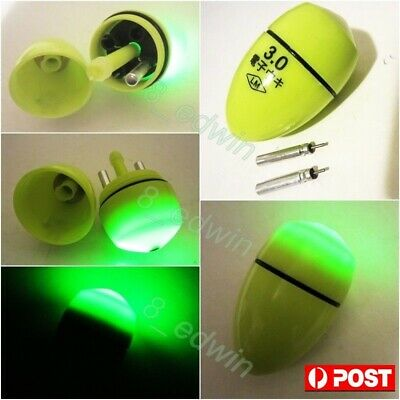 LED Luminously Abo #3.0 Ellipsoid Night Fishing Float + 2 Lithium batteries