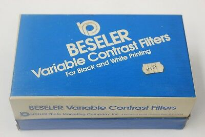Beseler 8045 set of 7 Polycontrast filters mint but frames curved READ  AS IS