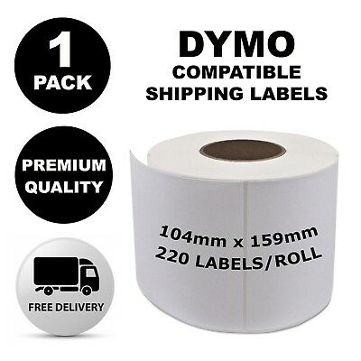 1 Pack Dymo Compatible 4XL S0904980 Shipping Labels 104x159mm [Regular Post]