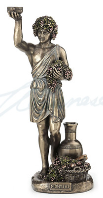 Dionysus Holding Grapes - Greek God Of Wine Figurine Statue Sculpture