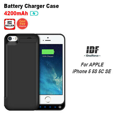 Custom Model For iPhone 5 5s 5c SE Battery Case Power Bank Charger Cover 4200mAh