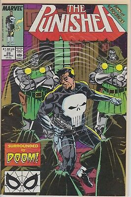 The Punisher Surrounded By Doom Mid Dec #28 Marvel Comic Book 1989