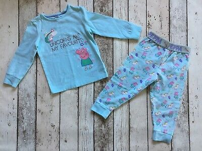 M&S Girls Peppa Pig Pyjamas/ Nightwear 1.5-2 Years Brand New