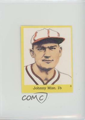 1989 The Official Hall of Fame Fun & Fact Sticker Book Stickers #3 Johnny Mize