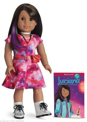 "American Girl Luciana Vega Doll and Book NEW 18"" GOTY 2018 Girl of the Year"