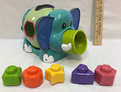 Elephant Block Toy Matching Shapes Baby Toddler Child Coordination Learning