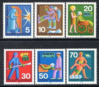 Germany Postage Stamps Scott 1022-1027, Mint Never Hinged, Complete Set!! G424f