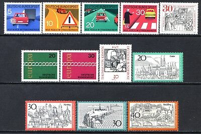 Germany Postage Stamps Scott 1059-1069A, 12 MNH Stamp Selection!! G1673d