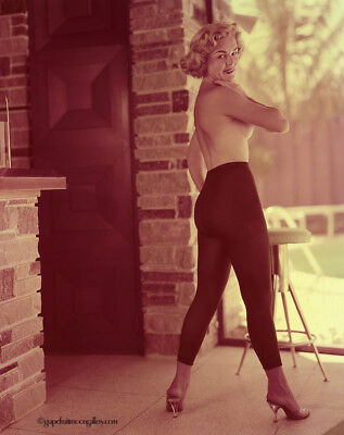 Bunny Yeager 1950s Color Camera Transparency Sultry Pin-Up 8x10 Cheesecake Great