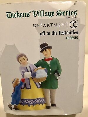 Department 56 Dickens Village Off to the Festivities #4036515 Retired
